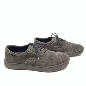 BORN Cymbal Lace Up Perforated Moccasin Sneakers